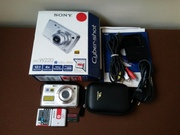 Sony Cyber-shot DSC-W220 б/у + чехол+ карта памяти 4g+ два акк..
